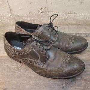 Steve Madden Neville Gray Leather Oxford